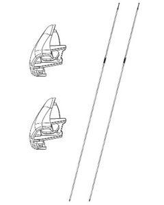 Bremsseil inkl. Abdeckung für Hinterrad, Paar