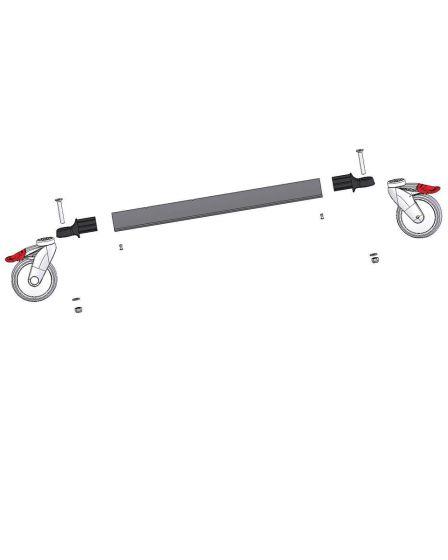 Rahmenrohr mit 2 Rädern ohne Bremse D=125 mm, Taurus