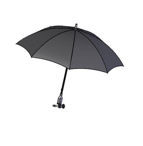 Schirm, schwarz, ohne Multifunktionsarm
