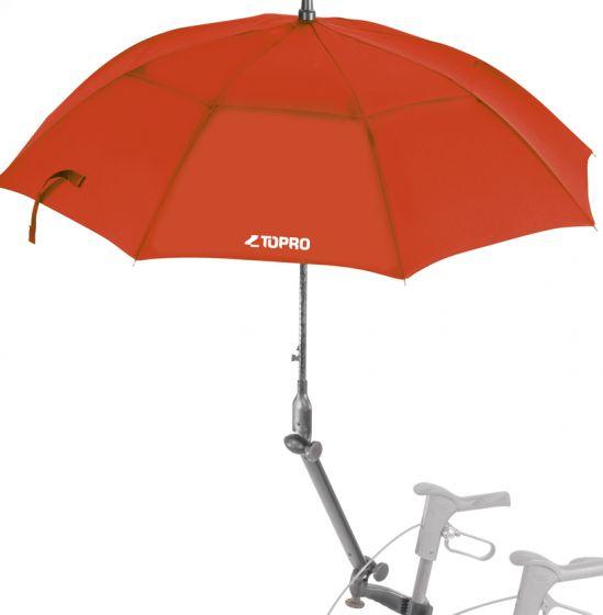 TOPRO Schirm, Rot mit Multifunktionsarm