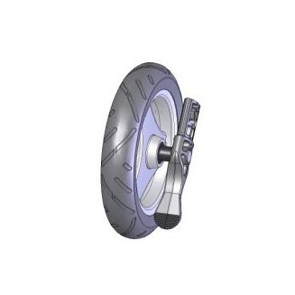 TOPRO PU Softrad, Hinterrad komplett mit Ankipphilfe, TOPRO Olympos M, für Modelle ohne IBS